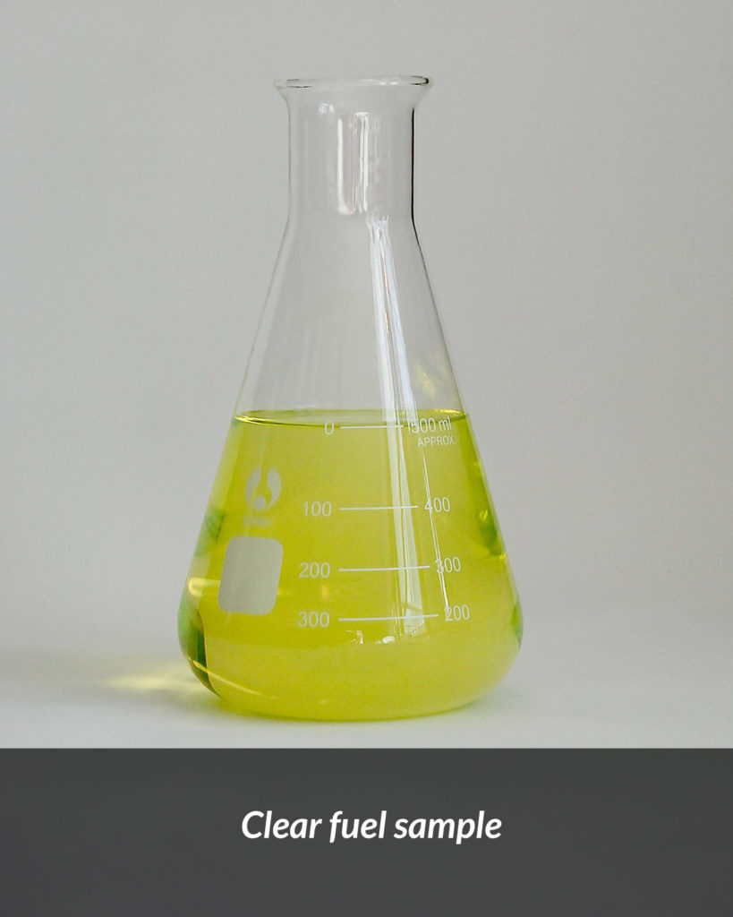 Clear fuel sample