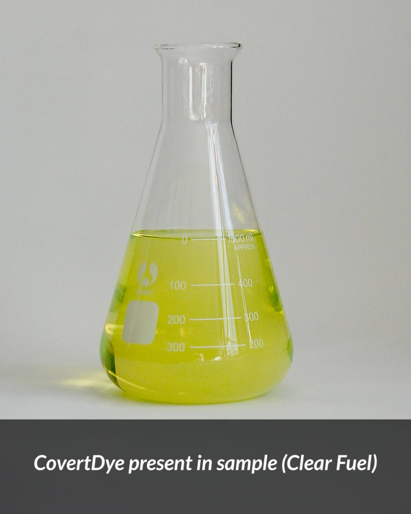 CovertDye present in sample (Clear Fuel)